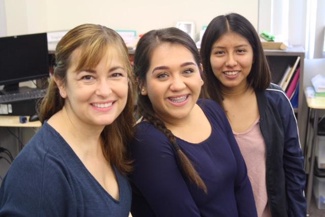 Joyce Feuerborn (Adviser), Beatriz Aguilar, and Vivian Juarez (contributors).