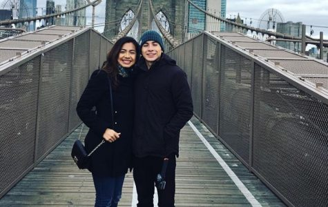 From left GFHS Alumni, Ana Rodriguez, and her brother Jesus Rodriguez on the Brooklyn Bridge in New York City.