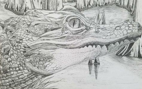 Senior, Brandon Roman's drawing.