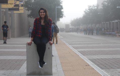 Senior, Lizbeth Gonzalez reflects her academic achievements at Godinez FHS.