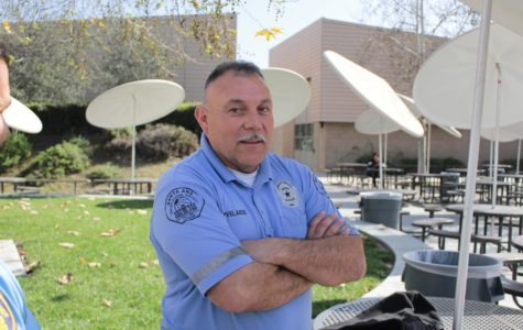 Security Guard Mauricio Velarde prepares for another lunch on campus with over 1,200 under his care.
