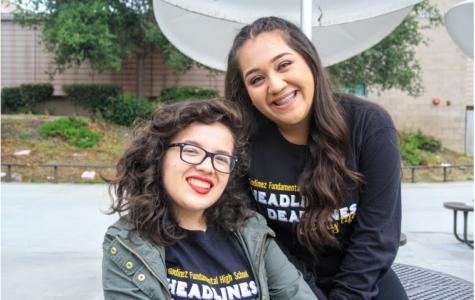 Seniors: (left) Dani Garza, (right) Beatriz Aguilar.