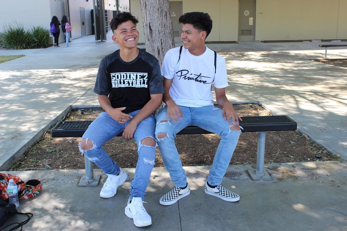 Juniors Angel Manzo & Roman Arcos wearing everyone's favorite fashion piece, ripped jeans.