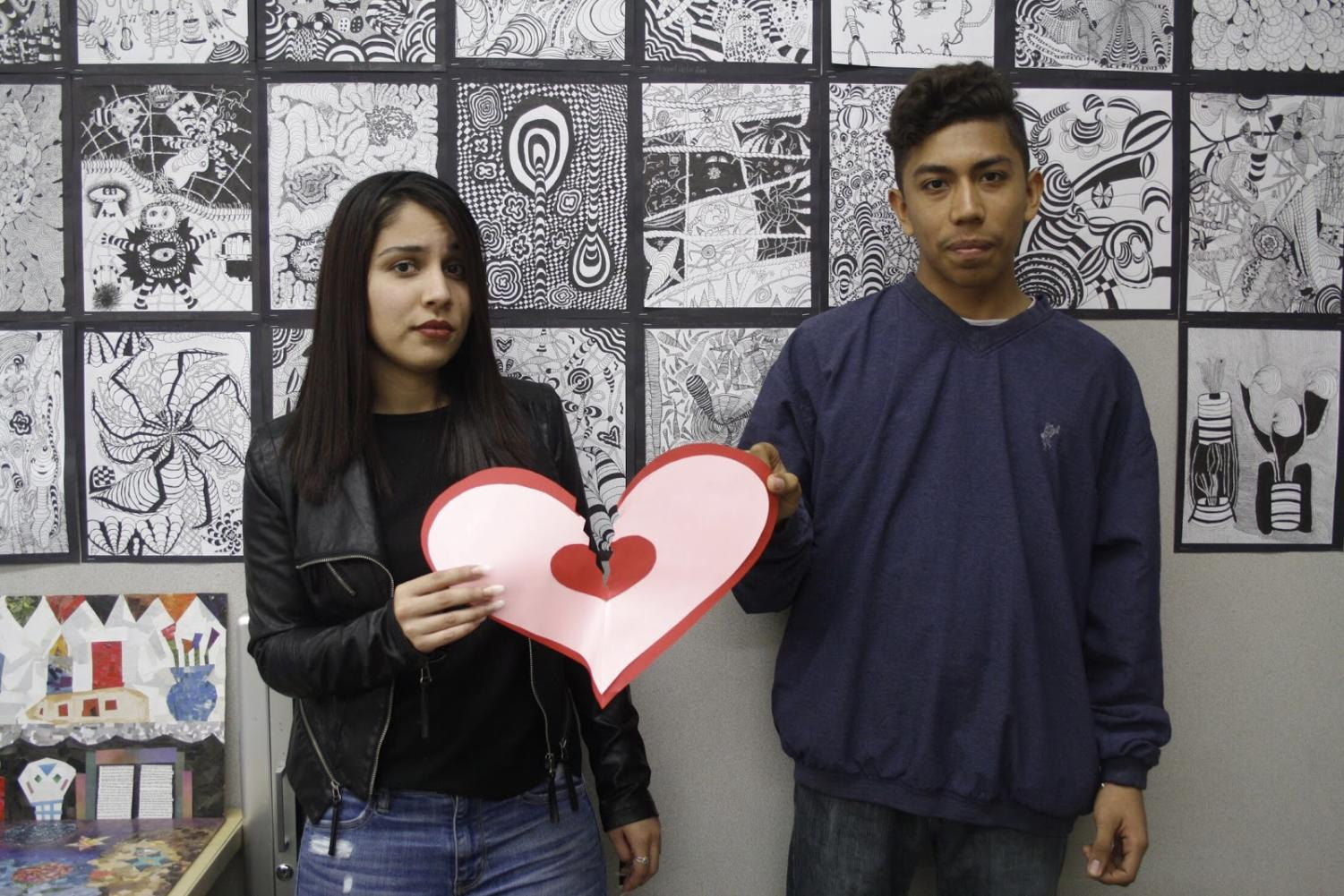 Joanna Luna and Raul Saldana are not convinced Valentine's Day is that great.