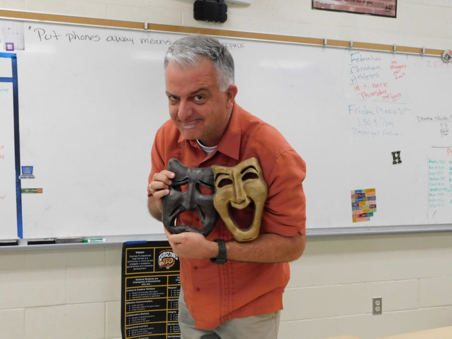 Mr. Marting promoting the upcoming playwright festival.