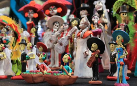 A beautiful display of action figures from the movie Coco on Fourth Street in Santa Ana, Nov. 2, 2018.