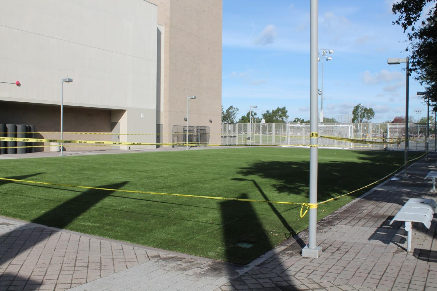 The newly added artificial turf on Friday, Nov. 30, 2018.