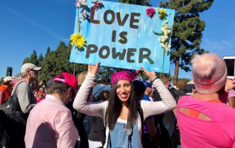 """When asked why she decided to march, Godinez Fundamental High School student Rani Yasin said, """"I wanted to come and support women."""" Photo taken Saturday, January 19, 2019 in Downtown Santa Ana."""