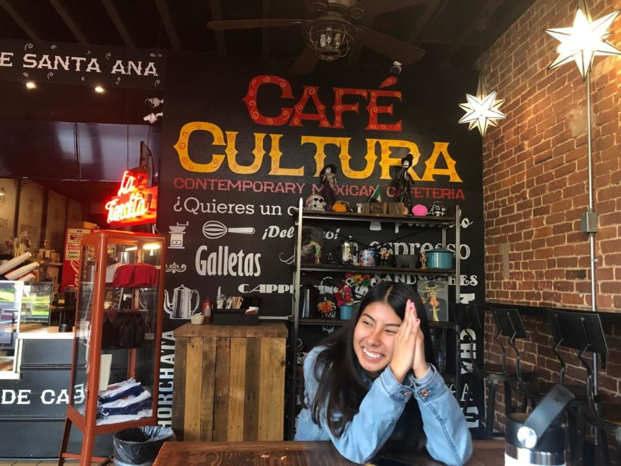 Ana Orozco at Café Cultura on a January 23, 2019.