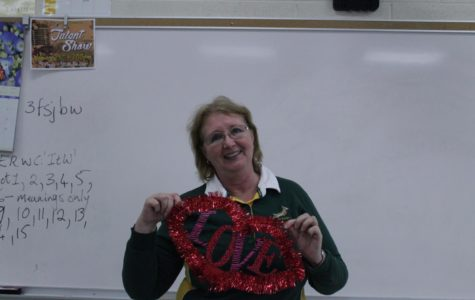 "Senior English teacher, Lynette Keeling, What she said she likes about Valentines? She said "" It's a time where family and friends get together and show love for each other."" What she said she dislikes about Valentines? She said "" I hate all the commercialism, how we need to spend so much money."""