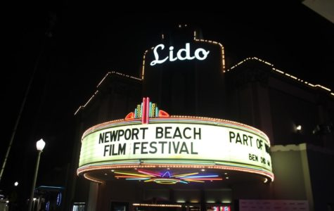 "Outside the Lido Theatre in Newport Beach, Calif. for the Closing Night Film, ""Part of Water."