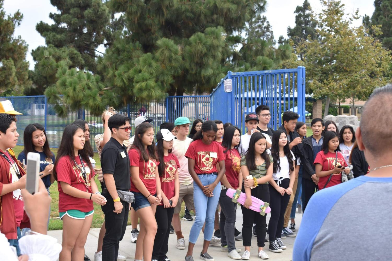 Division 04 West Key Club members meet up for their monthly division conference meeting (DCM) at Miles Square Park where they participate in leadership activities and earn community service hours.