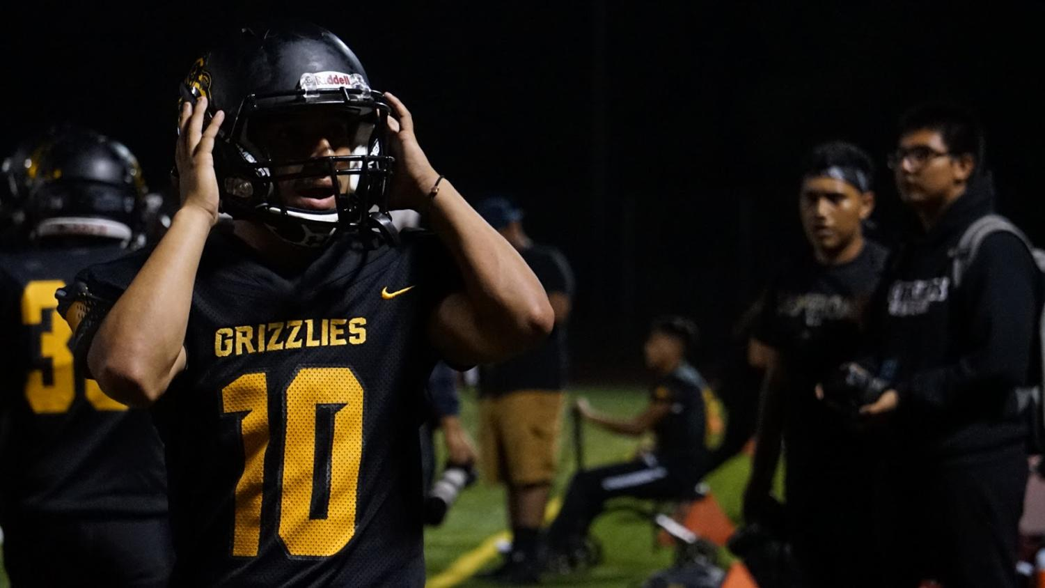 Daniel Munguia, number 10, at the end of the Segerstrom vs. Godinez game, photo taken at 9:00 p.m, Aug. 30, 2019.