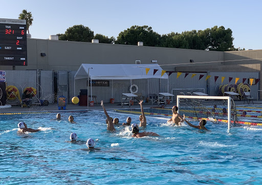 Water polo team against Westminster high school on the 31st of October at Westminster.