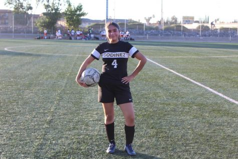 Lizeth Fuentes Ramirez smiles after her game against Garden Grove on Thurs., January 23, 2020. This photo was taken at Centennial Park soccer field at 4:34 p.m.