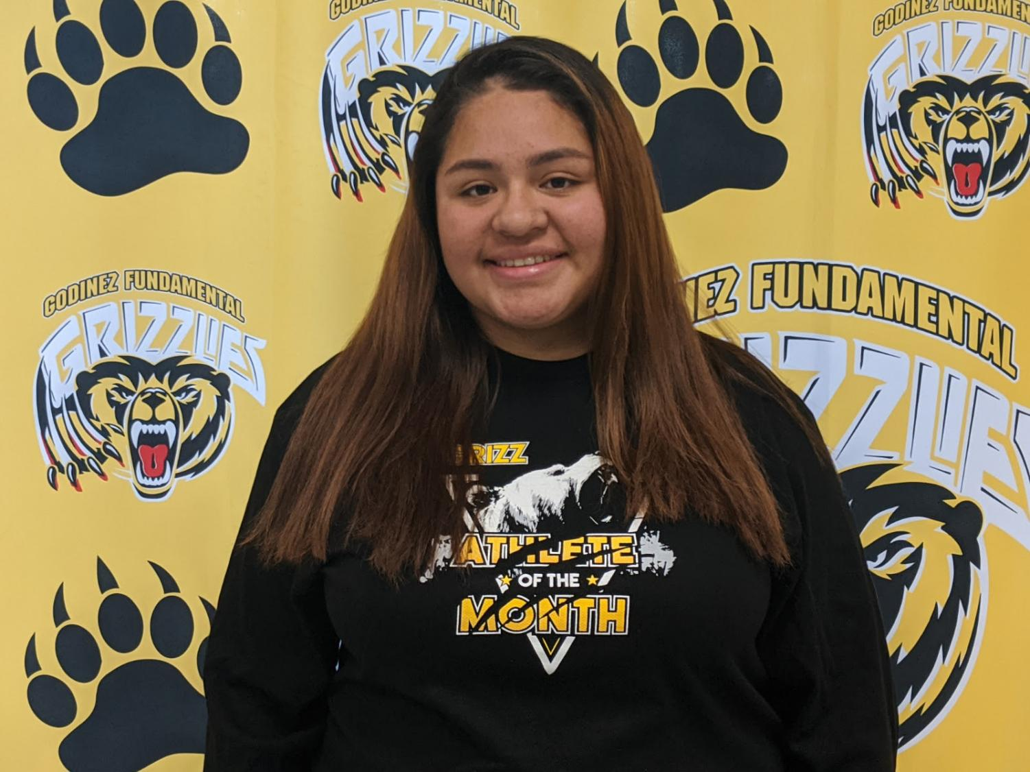 Junior Varsity Water Polo Captain, Idaly Ramirez has earned her spot as one of January's Athletes of the month.