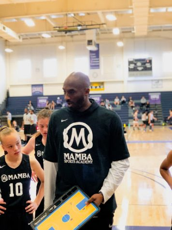 Kobe Bryant coaching his Mamba Academy team at Hope University in Fullerton.  Photo taken March 31, 2019 at 9:22 a.m.