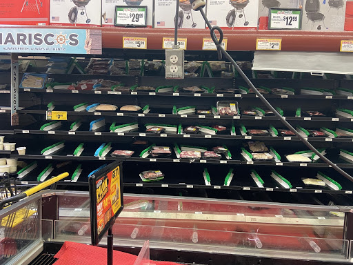 Prepackaged meats are nearly gone off the shelves at Northgate Gonzalez Market on 4th Street Santa Ana. Photo taken March 14, 2020 at 5:10 p.m.