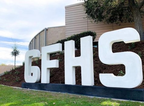 "A picture of the GFHS ""Hollywood"" sign located at the entrance of the school. Picture taken February 28, 2020."