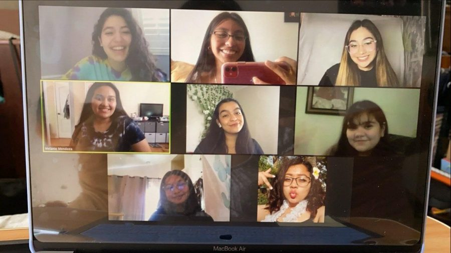 Polynesian Cultural Club sets up their virtual meeting during Godinez Fundamental High School's Club Rush on Tuesday, Oct. 6.
