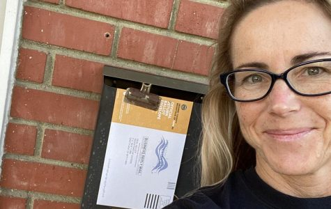 Teacher Drops off Mail-In Ballot Weeks Before the Election