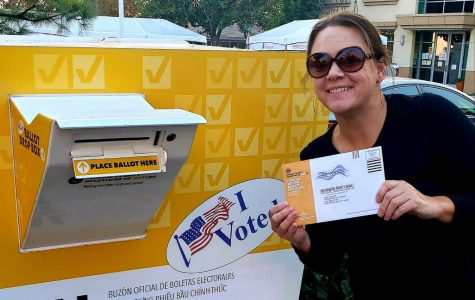 Dropping off Ballots was a Family Affair for this Teacher