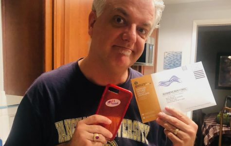 Mailing in his Ballot close to Home