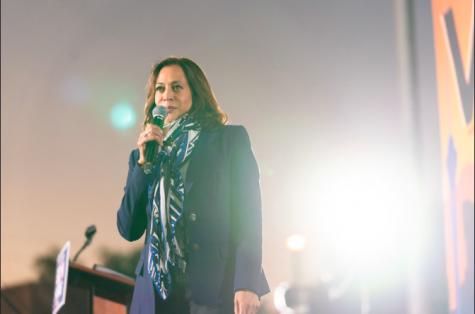 Vice President elect Kamala Harris speaks at the GOTV Event in Las Vegas, Nev. Photo taken October 27, 2020.
