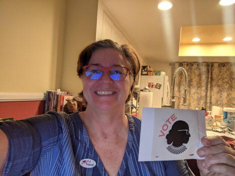 RGB is her Reminder to Vote