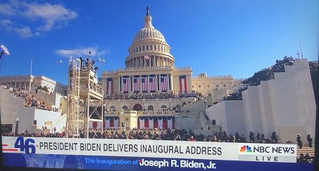 On the morning of January 20, 2021, Joseph R. Biden, Jr. delivered his inaugural address to all Americans shortly after he took the oath to office.
