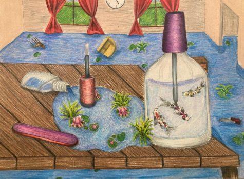 "Katrina Mena, a senior and AP Art student, calls this drawing ""Dream of Hope."""