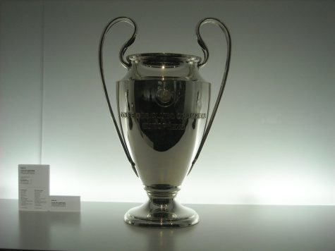 UEFA Champions League Trophy which was won by team Bayern Munich.
