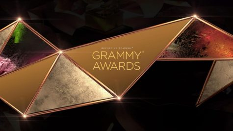An ad for the Recording Academy Grammy Awards held on Sunday, March 14, 2021 on CBS.