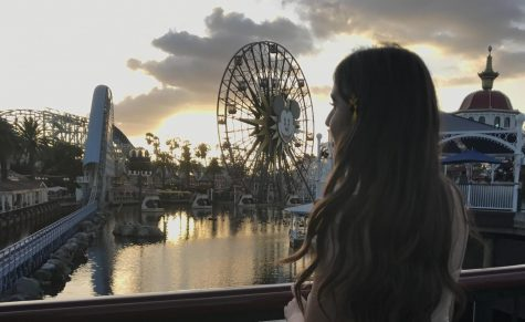 A photo of the author at Disney's California Adventure at Paradise Pier which is now Pixar Pier. Photo taken Oct. 2018.