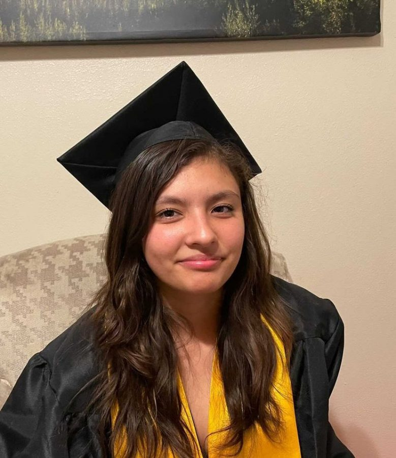 """Another senior from Godinez, Jenny Garcia struggled with online learning all year.  """"I feel like it went bad. It was tough to really learn anything because there were many distractions (at home),"""" said Garcia.  Like many students, Garcia had a hard time with distance learning.   """"It felt like I didn't have an obligation to turn in assignments or pay attention to class because I was at home, so it was easy to sign into class while also doing other things,"""" said Garcia.  Despite the circumstances, Garcia ended the year pretty well off and plans to attend Santa Ana Community College in the near future. She wants to study to become a math teacher.   """"I just feel like it's a fun career and I've wanted to be involved with education ever since I was a little kid,"""" added Garcia."""