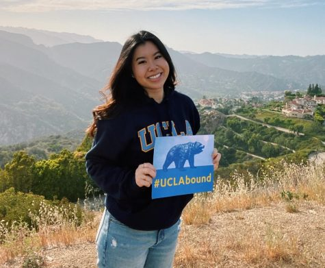 """Julie Phan will be attending the University of California, Los Angeles (UCLA).  Phan said, """"I chose UCLA due to its ideal location, balance of prestigious academics and sports, best dining halls, beautiful campus, and for my major, psychobiology!"""" She is looking forward to expanding her knowledge in a new environment and living in Los Angeles."""