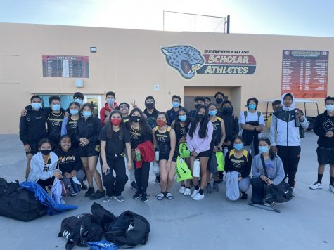 Godinez Track and Field team gets ready to leave after competing at and against Segerstrom. Photo taken March 28, 2021 at 6:19 p.m.