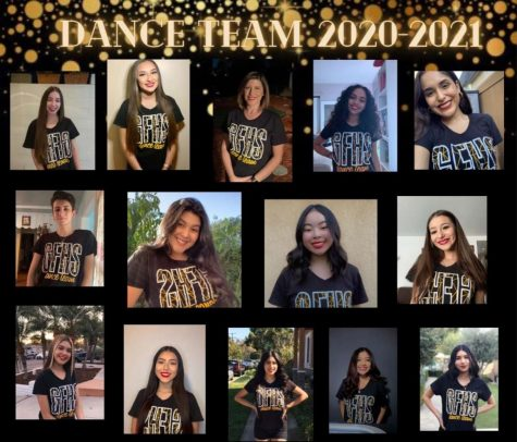 Part of the 2020-21 dance team at GFHS pictured above.
