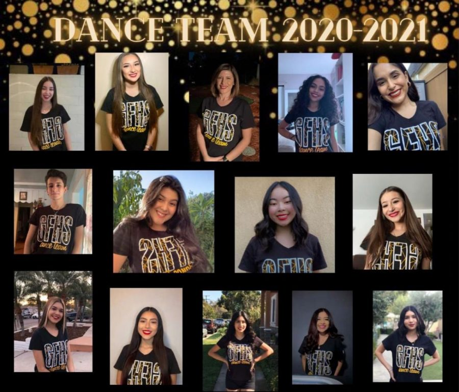 Part+of+the+2020-21+dance+team+at+GFHS+pictured+above.
