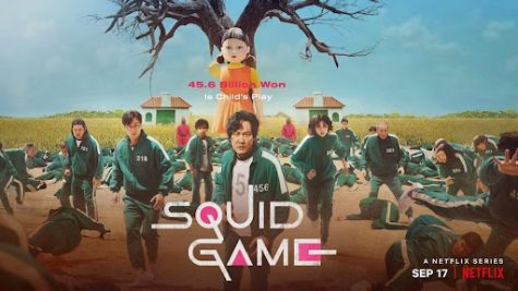 """An exciting show that premiered late September is on the road to becoming Netflix's most watched show, """"Squid Game."""" The show revolves on a competition in which 456 people from all walks of life, all of who are heavily in debt, compete in a series of childrens games with grave consequences. If they win, they have a $45.6 billion won or in U.S. dollars, $38.6 million."""