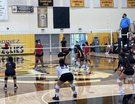 Our girls varsity volleyball team play home against Westminster on September 28th, 2021.